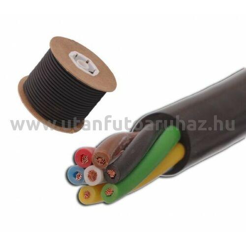 25 méter - 7 eres kábel 6x1mm + 1x1,5 mm gumi szigeteléssel