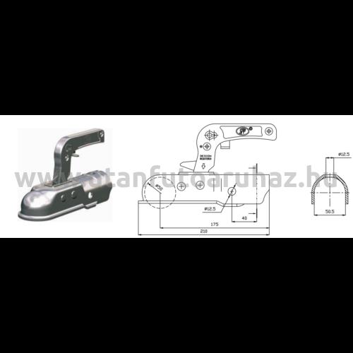 SPP ZSK - 1700B-5 kapcsolófej  50mm átm.+zár+dug.tart