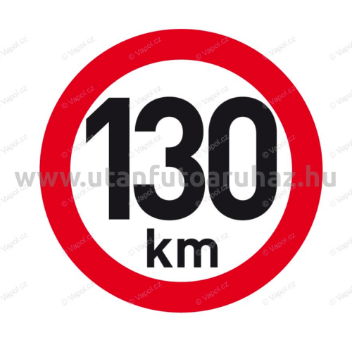 Sebesség fényvisszaverő matrica 130 km, átmérő 200 mm