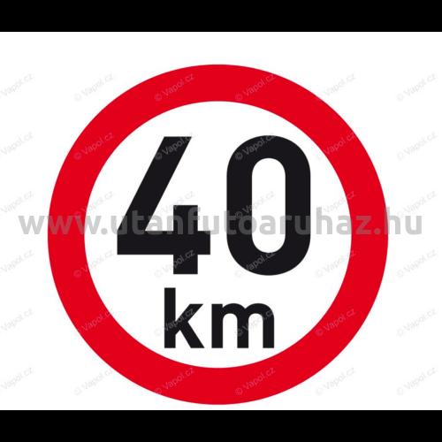Sebesség matrica 40 km, 200 mm átmérő